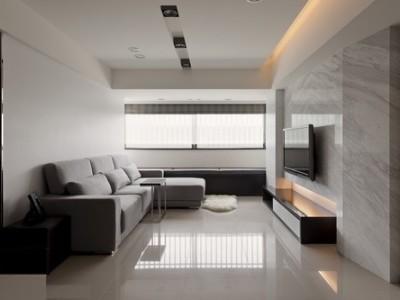 现代简约-128平米二居室装修样板间