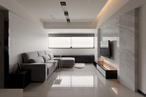 现代简约-128平米二居室-装修样板间