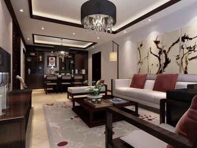 中式古典-136平米四居室装修样板间