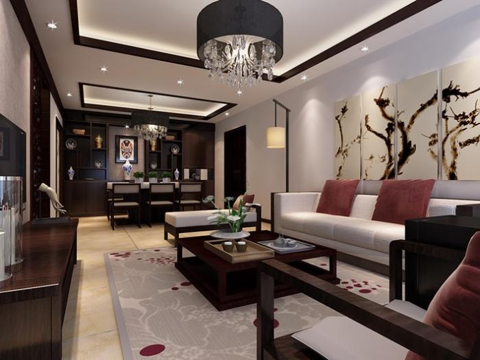 中式古典-136平米四居室-装修样板间