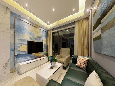 现代简约-83平米二居室装修设计