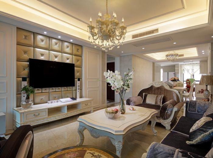 简欧风格-136平米三居室-装修样板间