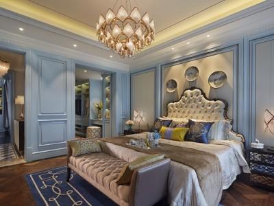 西式古典-105平米三居室装修样板间