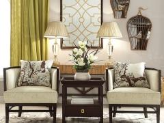 TALMD图迈 现代中式休闲椅中式韵味单人沙发 单人椅 可定