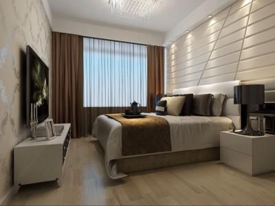 现代简约-70平米二居室装修样板间