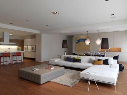 时尚现代风格三居休闲客厅装修图片