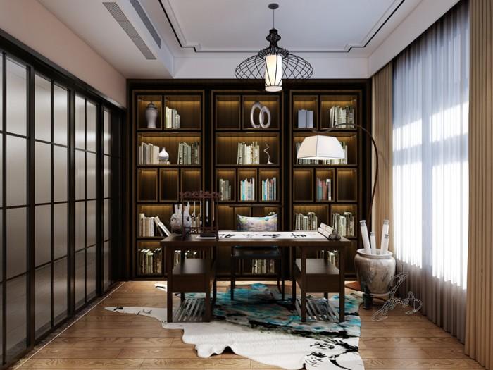 中式风格-142平米三居室-装修样板间