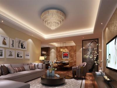中式风格-132平米三居室装修样板间