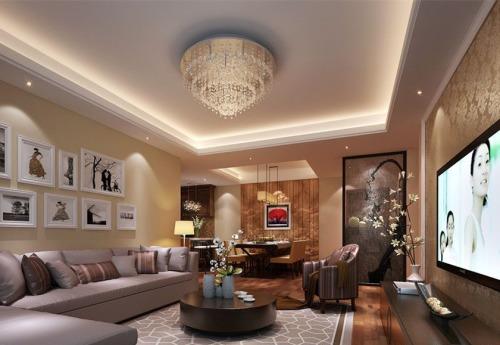 首尔甜城新中式三居132平米装修设计