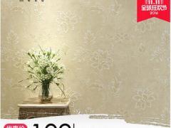米素 卧室壁纸欧式客厅背景墙壁纸3d无纺布墙纸田园大花温馨