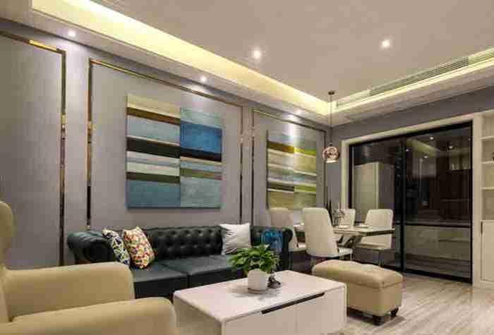 现代简约-87平米二居室-装修样板间