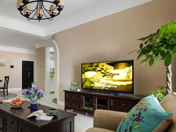 美式风格-95平米三居室-装修样板间