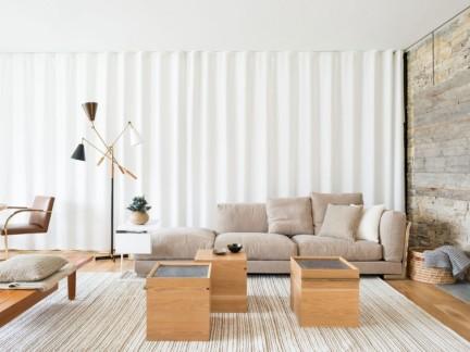 舒适自然日韩风格惬意客厅装修图片