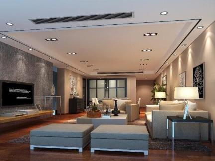 现代简约-132.28平米三居室装修样板间