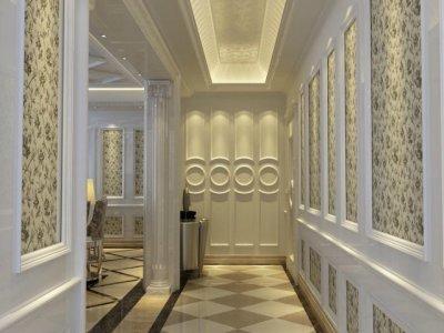 简欧风格-145平米三居室装修样板间