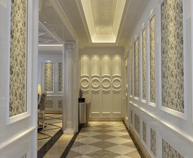 简欧风格-145平米三居室-装修样板间