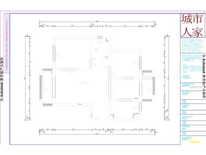 田园风格-101.47平米二居室-装修样板间