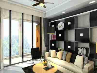 现代简约-125.21平米三居室装修样板间