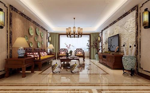 中式古典-135平米四居室-装修样板间