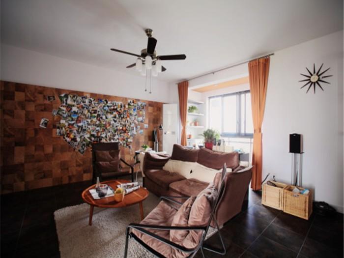 日韩风格-94.83平米三居室-装修样板间