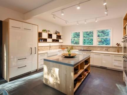 时尚大气简欧风格开放式厨房设计图