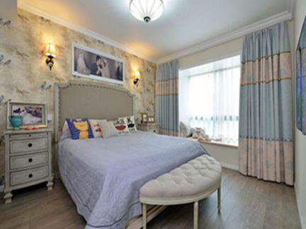 地中海风格一居室卧室飘窗装修效果图大全