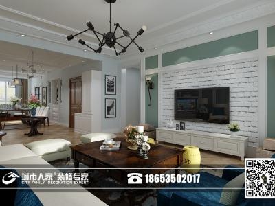 田园风格-147.24平米三居室装修样板间