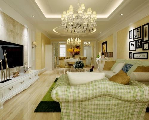 田园风格-107.49平米三居室-装修样板间