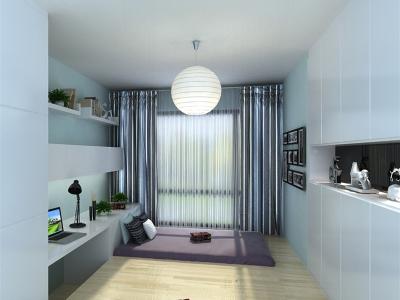 现代简约-124平米三居室装修样板间