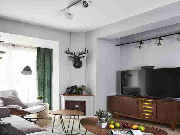 现代简约-120.05平米三居室-装修样板间