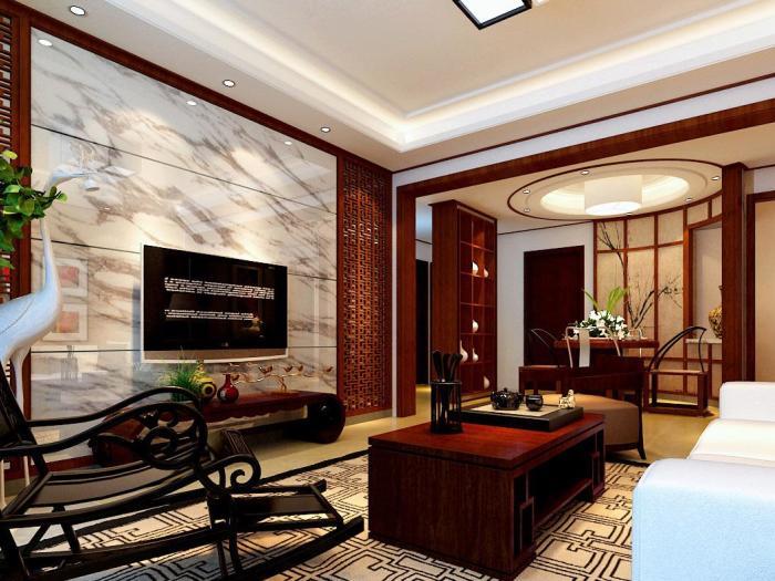新古典风格-120.35平米三居室-装修样板间