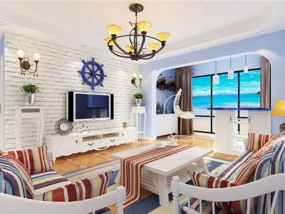 地中海风格-138平米三居室装修样板间