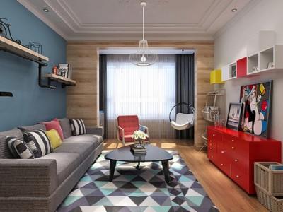 现代简约-75平米二居室装修样板间