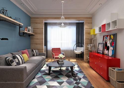 现代简约-75平米二居室-装修样板间