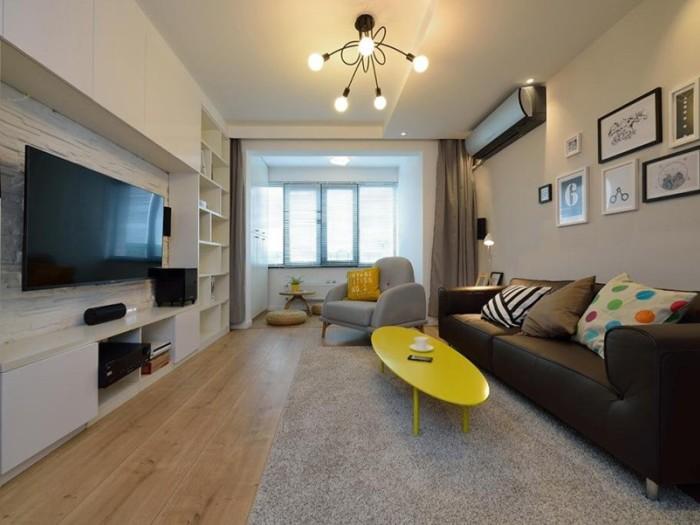 现代简约-78平米三居室-装修样板间