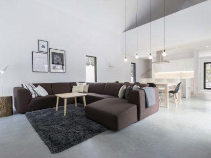 极简风格清爽复式温馨客厅装修图片