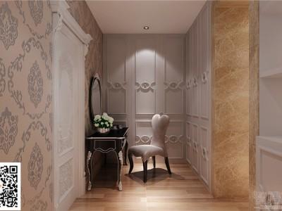 简欧风格-99.59平米二居室装修样板间