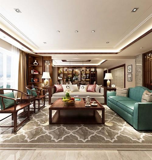 中式古典-200平米四居室-装修样板间