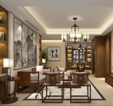 国色天香三居室中式风格