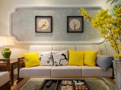 中式古典-129.96平米三居室装修样板间