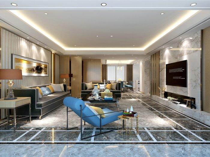 混搭风格-169平米四居室-装修样板间