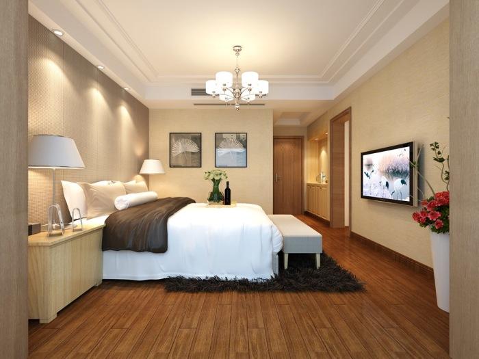 日韩风格-167平米四居室-装修样板间