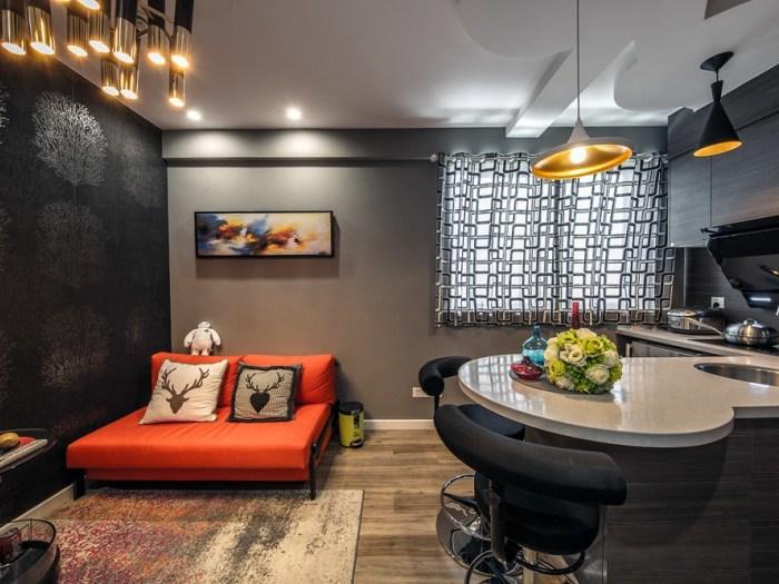 现代简约-40平米一居室-装修样板间