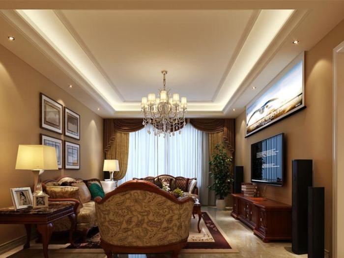 欧美风情-190平米四居室-装修样板间