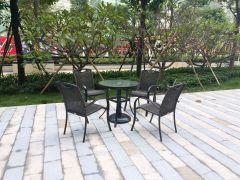 餐饮咖啡外摆桌椅旅游景区休闲藤椅馨宁居户外餐桌椅