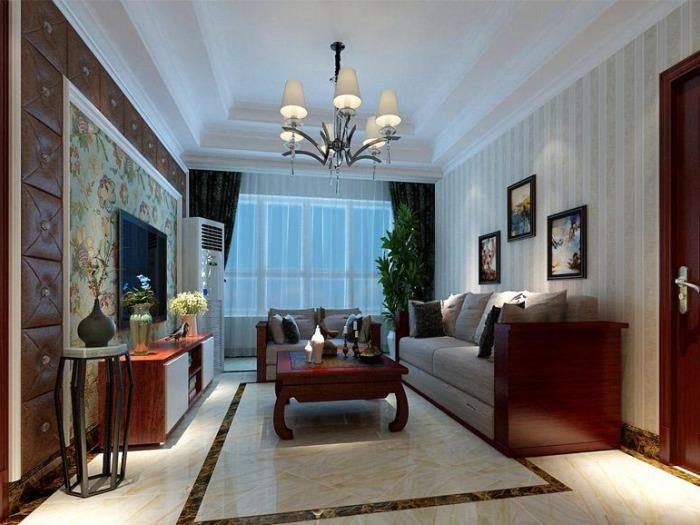 混搭风格-136平米四居室-装修样板间
