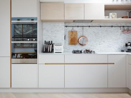 清新白色北欧风格厨房装修实景图