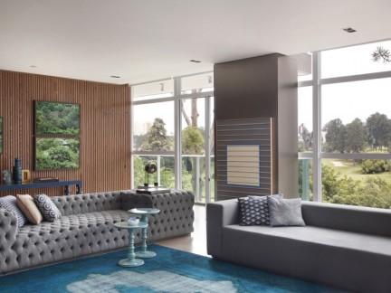 自然典雅混搭风格别墅客厅装修图片