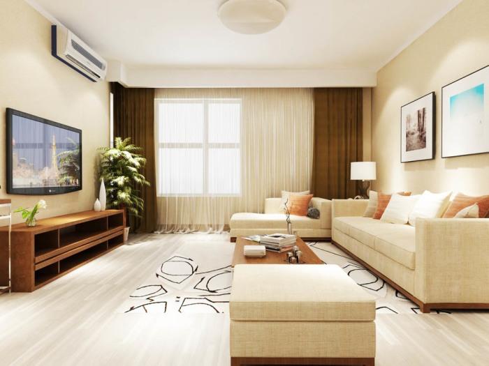 日韩风格-138平米三居室-装修样板间