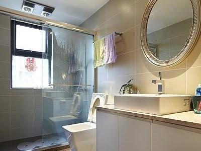 简欧风格-107平米三居室装修样板间